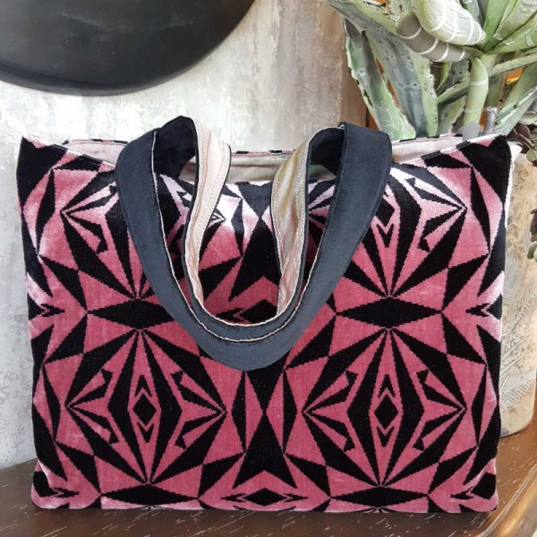 MY PINK POÈME - Shopper in velluto reversibile